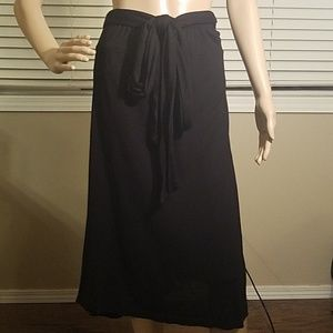 James Perse black tie dress / skirt size 1